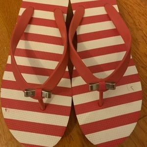 Coach Loralyn Rubber Wedge Flip-Flops with Bow